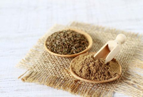 Ground Cumin in bowl