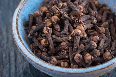 Whole Cloves in Bowl
