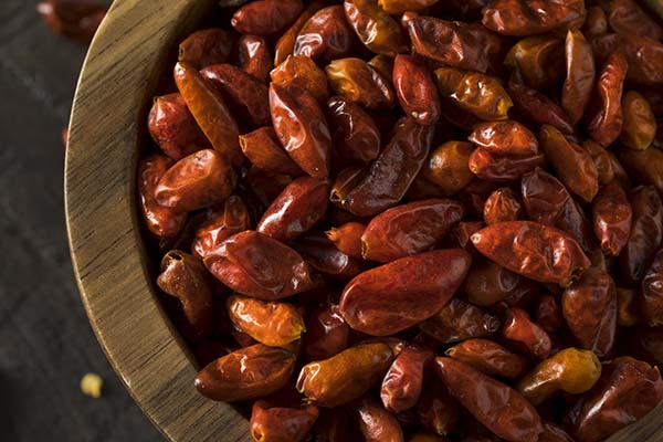 Burma Spice ships freshly dried pequin peppers directly to restaurants and home kitchens.