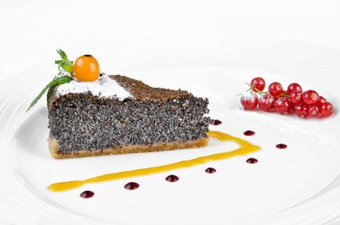 Poppy Seed Cake with Cherry Red Currant