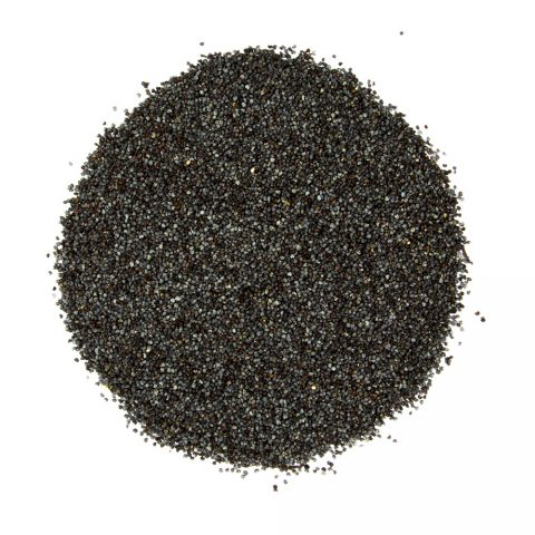 Black, Washed, Poppy Seeds