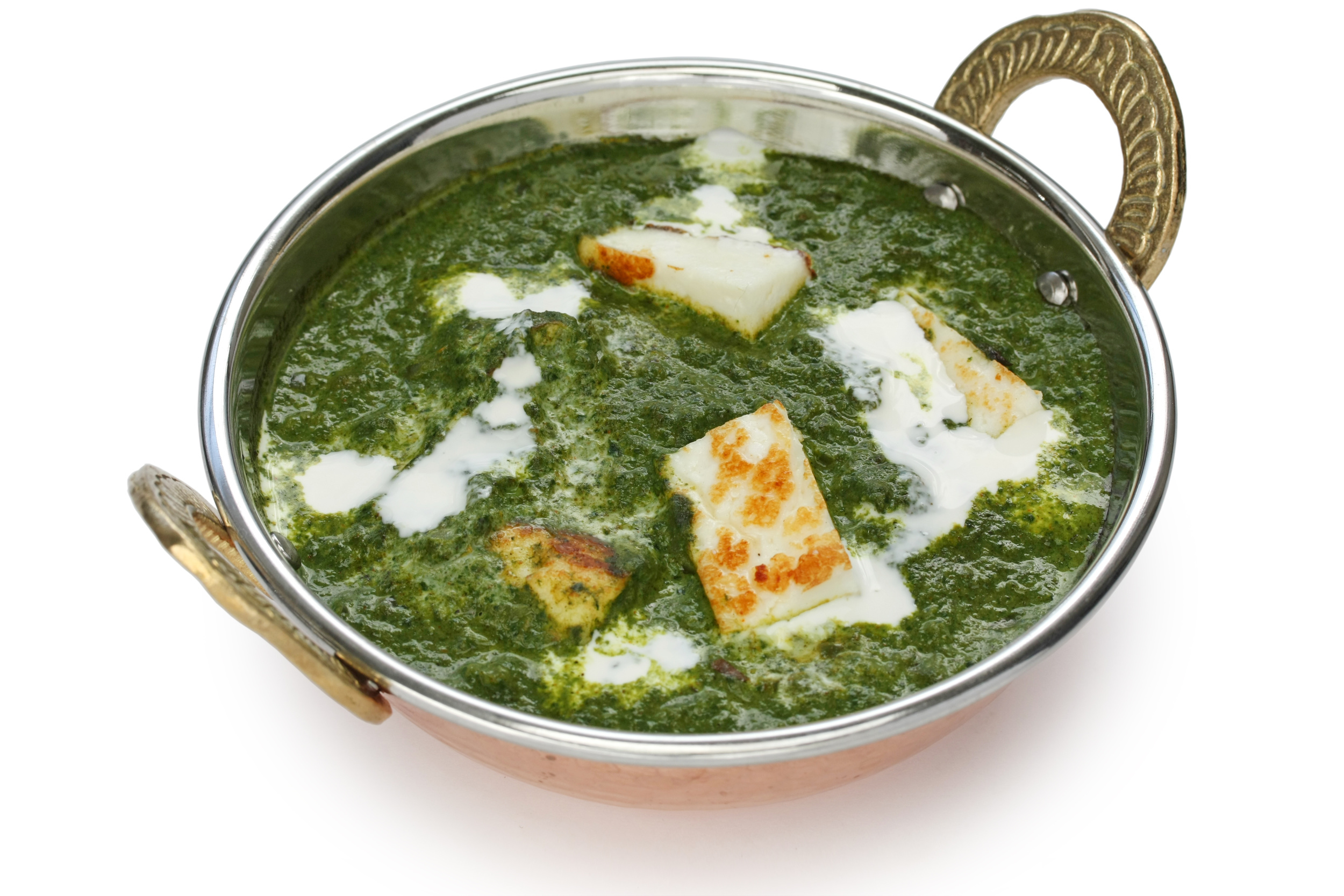 Palak Paneer (Spinach Curry with Indian Cheese)