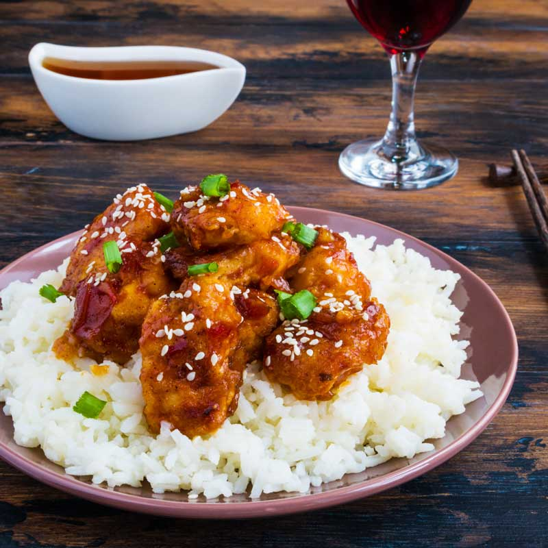 Sesame Chicken and Rice