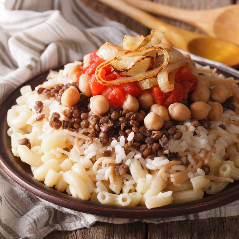 Kushari (Egyptian National Dish)