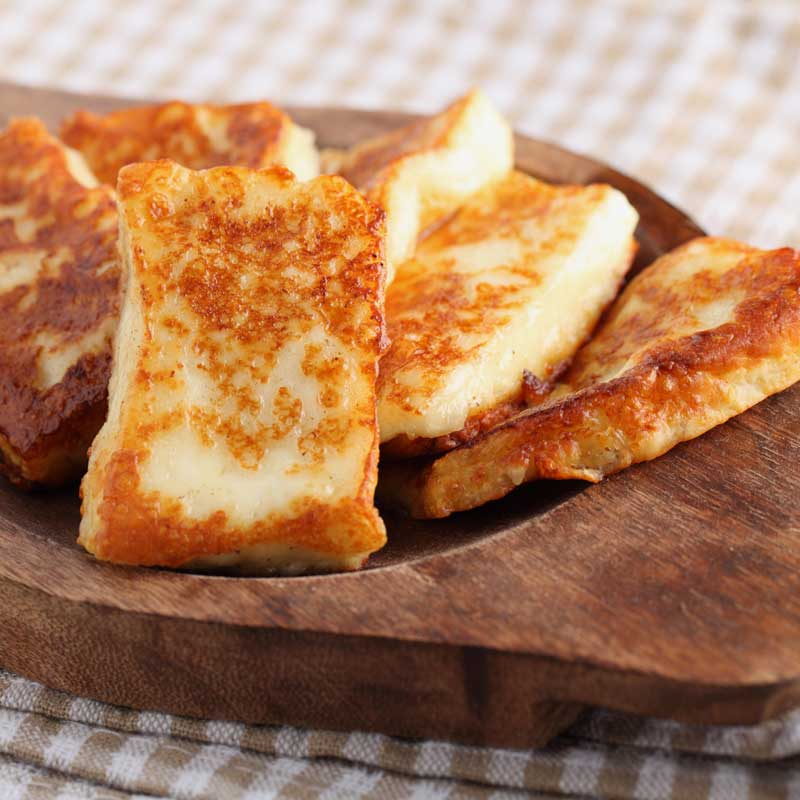 Toasted Halloumi Cheese