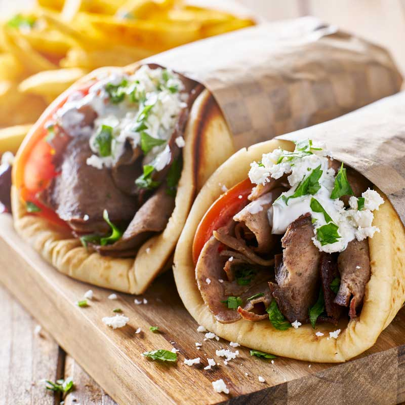 Lamb Gyro with Tzatziki