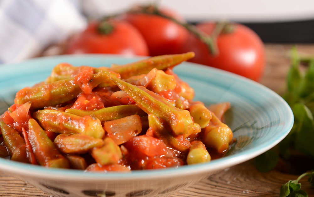 Okra Curry with Tomato (Indian Recipe)