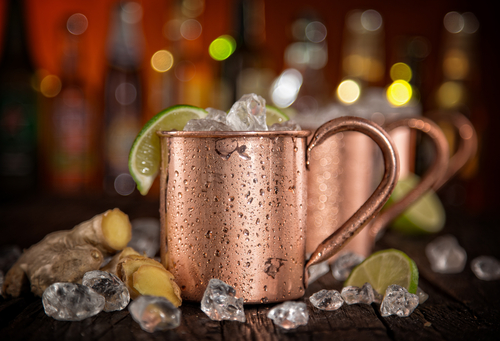 Spicy Honey Tequila Mule