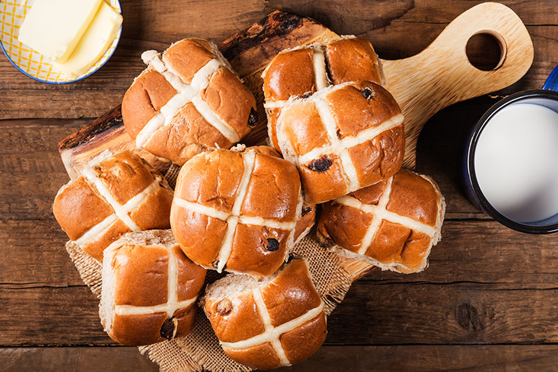 Hot Cross Buns with Ceylon Cinnamon