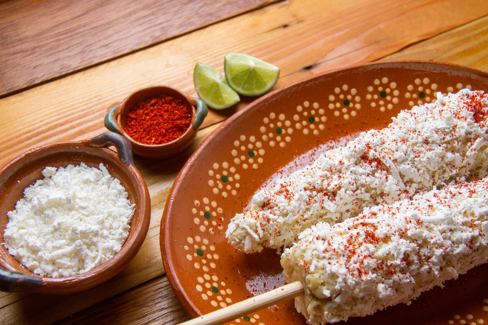 Elotes - Mexican Style Grilled Corn on the cob