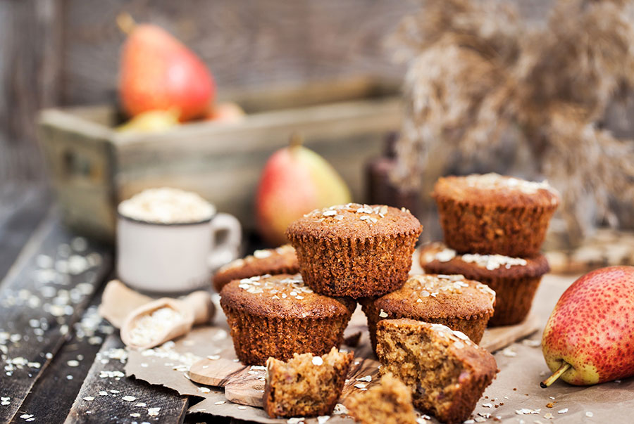 Spiced Gluten-Free Pear Muffins