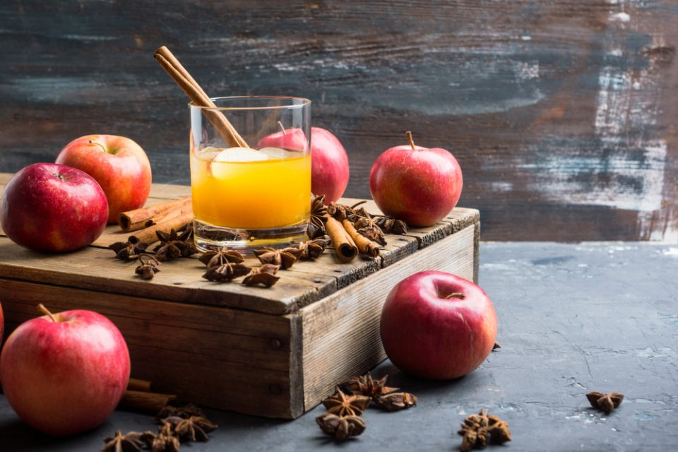 Apple Cider Old Fashioned with spices recipe